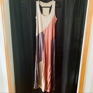 Casual colorblock SUGARLIPS maxi dress Sz L